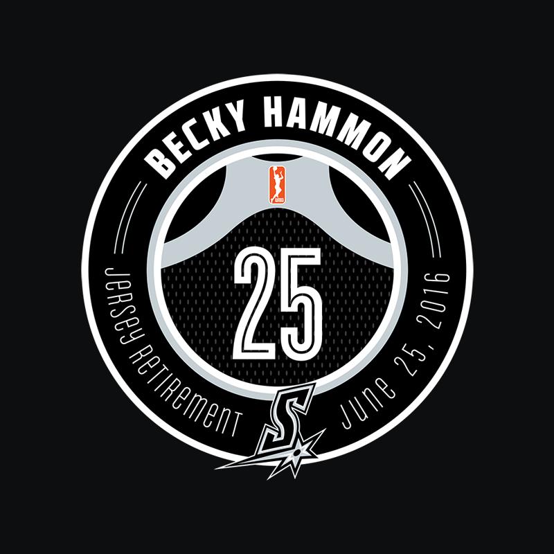Becky Hammon Jersey Retirement Logo